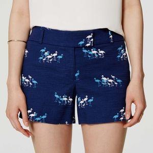 Ann Taylor LOFT Blue Flamingo 'Riviera' Shorts